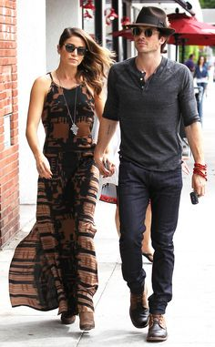 New hollywood couple- Nikki Reed & Ian Somerhalder make a simple Sunday stroll look stylish!