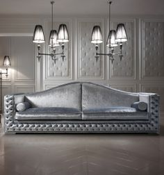 Luxury platinum velvet sofa  www.juliettesinteriors.co.uk
