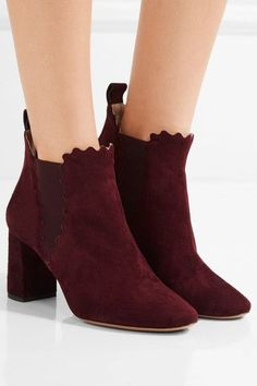 Heel measures approximately 70mm/ 3 inches Merlot suede  Pull on Made in Italy