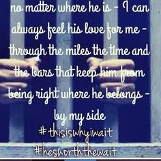 Discover and share Husband In Prison Quotes. Explore our collection of motivational and famous quotes by authors you know and love. Husband Quotes, Love Quotes For Him, Inmate Love, Prison Quotes, Long Distance Love Quotes, Prison Wife, Bae Quotes, Qoutes, Badass Quotes