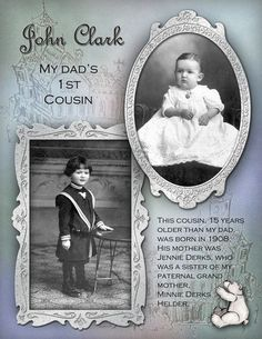 (Saved for inspiration, layout) sweet childhood page with beautiful photo framing. Scrapbook Sketches, Scrapbook Page Layouts, Scrapbooking Ideas, Heritage Scrapbook Pages, Vintage Scrapbook, Album Photo, Photo Book, John Clark, Family History Book
