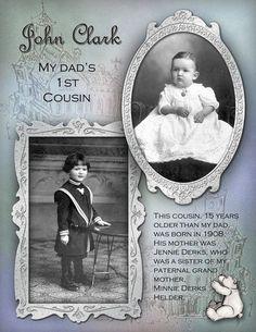 John Clark...sweet childhood page with beautiful photo framing.