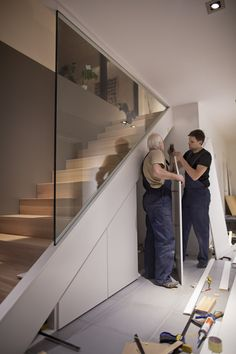 Staircase on the spot Modern Stairs location Cupboard spot Staircase stelle trep Staircase on the spot Modern Stairs l . Ineke trap Staircase on th House Staircase, Staircase Design, Stair Design, Interior Staircase, Staircase Remodel, Staircase Ideas, Staircases, Basement Renovations, Home Renovation