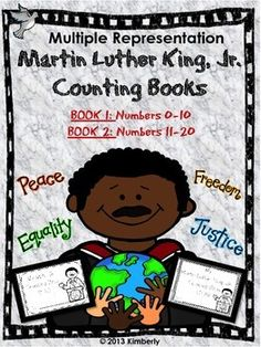 Martin Luther King, Jr. Interactive Counting Books (Numbers 0-10 & 11-20) 2 Interactive Books #MLK #martinlutherkingjr #math #teennumbers #Interactivebooks #Teacherspayteachers