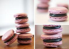 Gluten & Dairy Free Black Cherry French Macarons (with Vegan Buttercream Recipe)