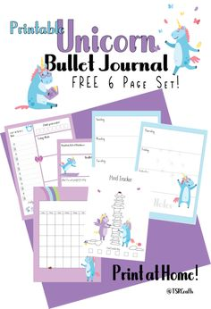 FREE Bullet Journal Sets Landing Page. Planner inserts, printable bujo kits, planner stickers and more!