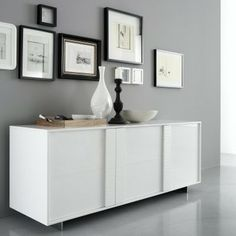 Tween Glossy Buffet - White - modern - buffets and sideboards - - by Hayneedle $3022