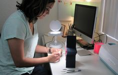 Arianna Elisabeth Designs used an Space-Saving LED Magnifier lamp to make a craft perfect for the hostess in your life
