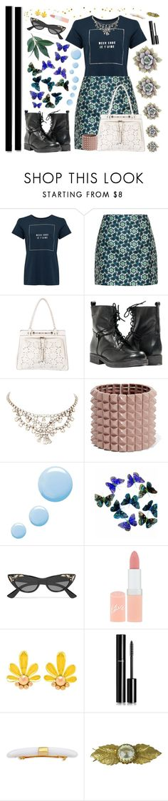 """Fly Away"" by ciaobellaciao ❤ liked on Polyvore featuring Sundry, Ted Baker, Valentino, Paolo Shoes, Topshop, Gucci, Rimmel, Chanel, Colette Malouf and Miriam Haskell"