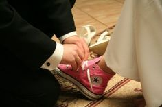 Wedding shoes - Chaussures mariage Converse