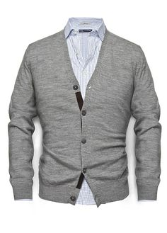 HE BY MANGO - SUEDE ELBOW PATCHES CARDIGAN