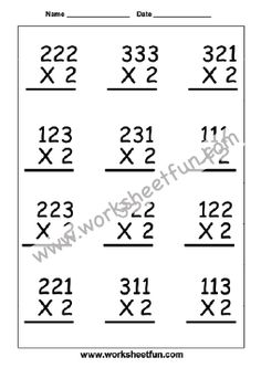 Multiplication Worksheets / FREE Printable Worksheets – Worksheetfun Free Printable Multiplication Worksheets, Repeated Addition Multiplication, Multiplication Activities, Kindergarten Worksheets, 9 Times Table, Times Table Chart, Times Tables Worksheets, Word Problems, Free Printables