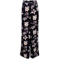 9e219dfa7e32e Boohoo Adora Woven Floral Wide Leg Trousers