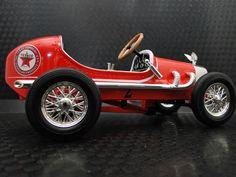 Pedal Car Race Vintage Sport Hot Rod F1 Indy Rare Racer Metal Midget Show Model #HighEndInvestmentGradeDiecastModelArt