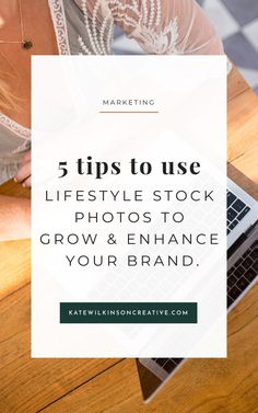 5 tips to use lifestyle stock photos to grow and enhance your brand. PLUS - Free stock images from Beach Babe Stock