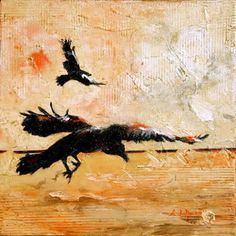"So Serene and Beautiful!! ""Ravens In Flight"" by  Alex duMauriée"