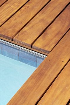 Semi Inground Pool with Attached Deck