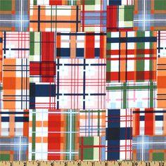 Michael Miller Going Coastal Collection Patchwork Plaid Multi level