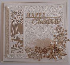 Inky Finger Zone Die Cut Christmas Cards, Creative Christmas Cards, Religious Christmas Cards, Beautiful Christmas Cards, Christmas Card Crafts, Christmas Makes, Xmas Cards, Christmas Nativity, Christmas 2017