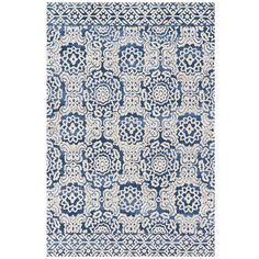 "Magnolia Home Lotus Blue 7'9""x9'9"" Rug"