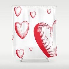 #society6 #showercurtain #hearts #love
