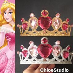 SALEAurora CrownAurora Elastic HeadbandAurora by ChloeStudio Birthday Crowns, Princess Birthday, Embellished Gown, Headbands, All Things, My Design, Hobbies, Disney Princess, Pink