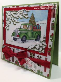 Image result for cards made with stampendous truck of gifts stamp