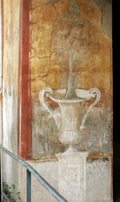 Wall painting in the House of Marine Venus, Pompeii, century AD Ancient Pompeii, Pompeii And Herculaneum, Ancient Ruins, Ancient Art, Ancient History, Roman History, Art History, Art Romain, Roman Art