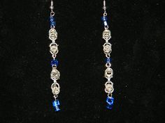 Upcycled Byzantine Knot earrings