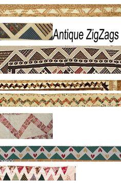antique zig zag borders...