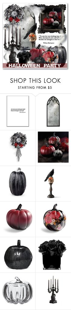 """Red & Black Halloween Party"" by leanne-mcclean ❤ liked on Polyvore featuring Grandin Road, Improvements, Hervé Gambs, Simon Pearce and Seletti"
