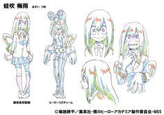 Personaje: Tsuyu Asui. Seiyuu: Aoi Yuuki