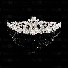 [USD $ 6.99] Bridal Wedding Princess Pageant Prom Crystal Tiara Crown Tiaras