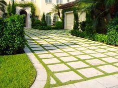 Driveway Design Ideas, Driveway Landscaping Front Yard Landscaping Tucker Landscape Design Boca Raton, FL