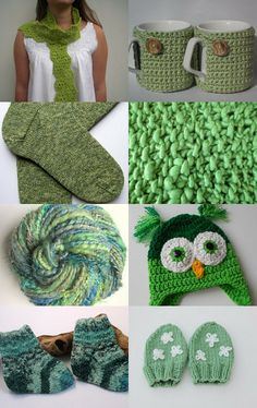 Spring Greens by Bebby on Etsy--Pinned with TreasuryPin.com