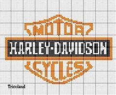 Cross Stitch Charts, Cross Stitch Designs, Cross Stitch Patterns, Graph Crochet, Crochet Cross, Harley Davidson, Bead Loom Patterns, Beading Patterns, Crochet Patterns
