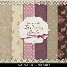 Far Far Hill: Freebies Backgrounds Kit - In Evening Garden