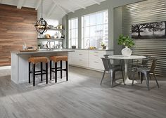 """Can't wait to see this flooring when it's done 36"""" x 6"""" Oceanside Oak Gray HD Porcelain - fullscreen"""
