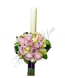 Lumanari nunta trandafiri mov orhidee Candles, Candy, Candle Sticks, Candle
