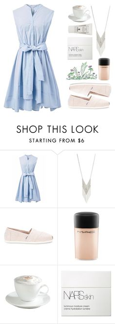 """Coffee time"" by painterella ❤ liked on Polyvore featuring Chicwish, Lane Bryant, TOMS, MAC Cosmetics, Sur La Table, NARS Cosmetics and Sisley"