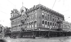 Ca. 1915 - The Dullnig Building at Losoya and Commerce St. was built in 1879.