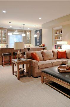 Basement Design. This basement is just perfect! #Basement #Design
