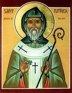 St. Patrick--who was neither Irish, nor named Patrick, nor an officially canonized saint.  He was a Brit named Maewyn Succat who was known for wearing blue, not green.  And the whole driving the snakes out of Ireland bit, Ireland never had snakes.  But he did die on March 17th (we think).