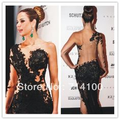 Drop Shipping Sexy Short See Through Beaded Long Sleeve Formal ...