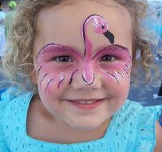 Pink Flamingo Mask Flamingo Face Paint, Flamingo Craft, Face Painting Designs, Paint Designs, Body Painting, Flamingo Birthday, Flamingo Party, Flamingo Costume, Bird Costume