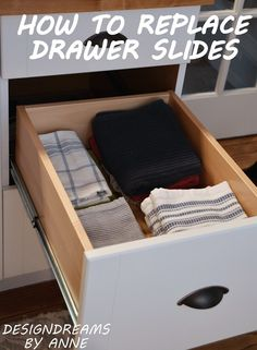 How to replace drawer slides for full extension so you can see the full space.