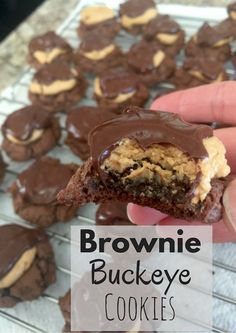 Add this cookie recipe for Brownie Buckeye Cookies to your list of Christmas Cookies! Your friends and family will be so impressed! You can't go wrong with chocolate and peanut butter cookies!