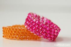 Peyote Stitch Ring- good beginner tute.  Quick and easy.  #Seed #Bead #Tutorials