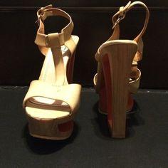 Tan & orange heels Worn once bundle & Save $... Closet Clean/up SALE Great Buy! Shoes Heels