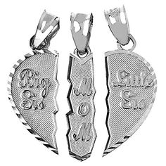 Textured Sterling Silver 3-Piece Diamond-Cut Mom and Daughters Breakable Heart Necklace Pendant (Broken, 3 Pieces) Mother's Jewelry http://www.amazon.com/dp/B00M8GG5DU/ref=cm_sw_r_pi_dp_t27xub0E2G86G